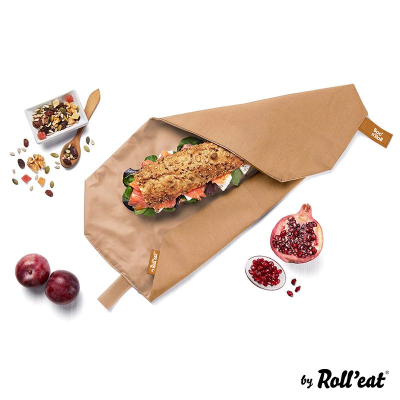 Sandwich Wrap und Brotzeittuch 'Boc 'n Roll' in Braun, Lookbook01