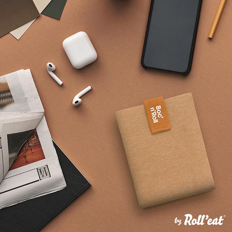 Sandwich Wrap und Brotzeittuch 'Boc 'n Roll' in Braun, Lookbook02