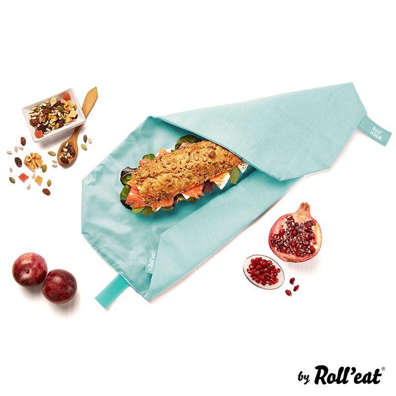 Sandwich Wrap und Brotzeittuch 'Boc 'n Roll' in Grün, Lookbook01
