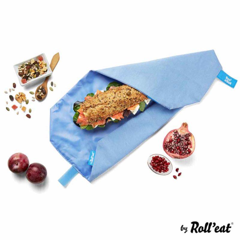 Sandwich Wrap und Brotzeittuch 'Boc 'n Roll' in Blau, Lookbook01