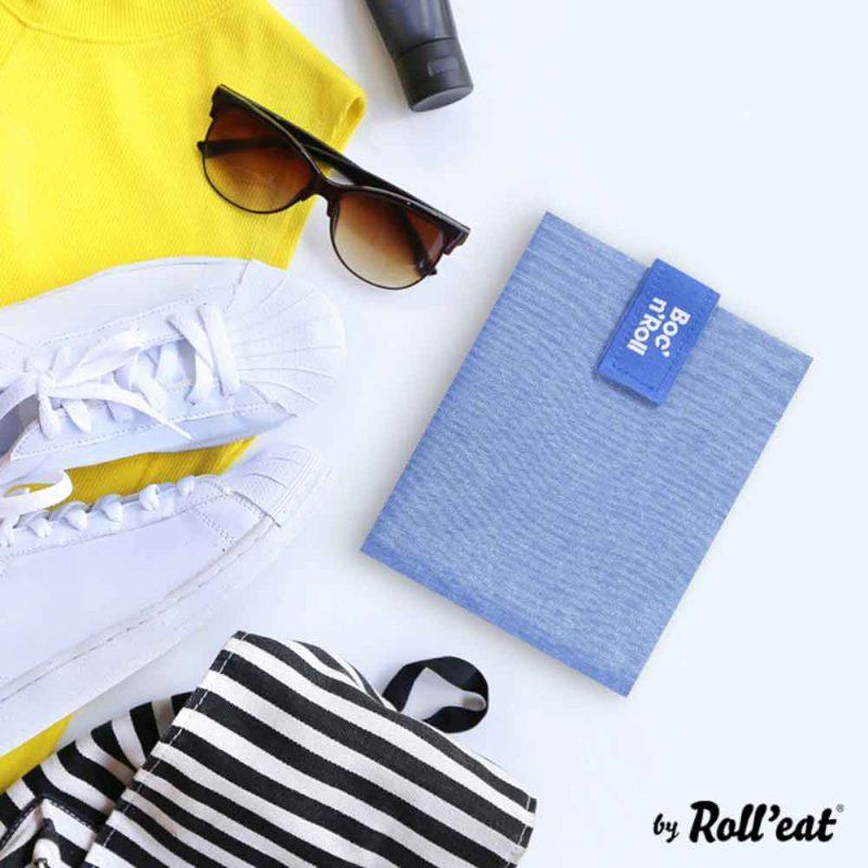 Sandwich Wrap und Brotzeittuch 'Boc 'n Roll' in Blau, Lookbook02