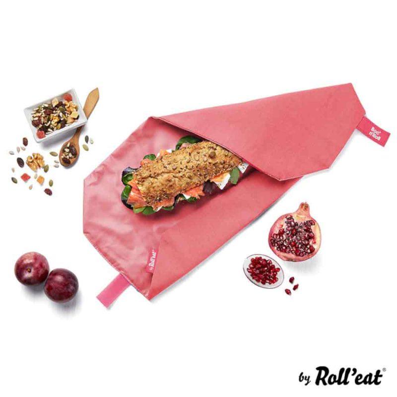 Sandwich Wrap und Brotzeittuch 'Boc 'n Roll' in Rot, Lookbook01