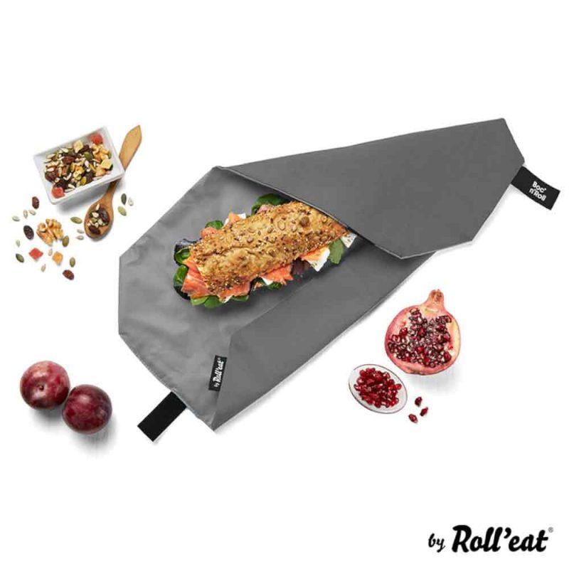 Sandwich Wrap und Brotzeittuch 'Boc 'n Roll' in Schwarz, Lookbook01