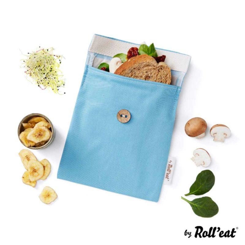 Snackbag Snack-and-Go Bio in Blau - Lookbook