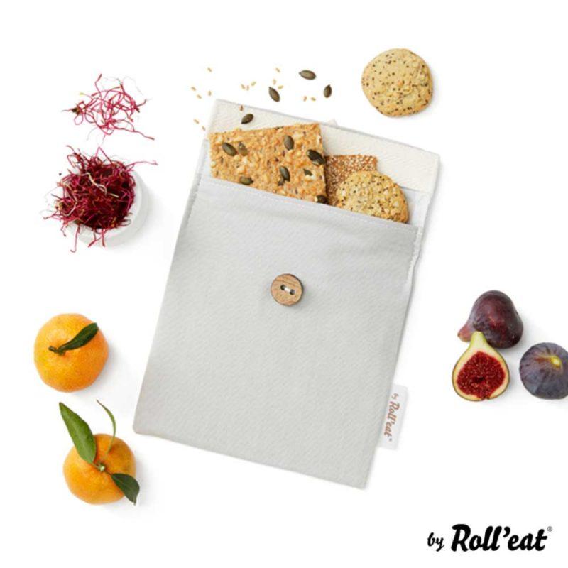 Snackbag Snack-and-Go Bio in Grau - Lookbook