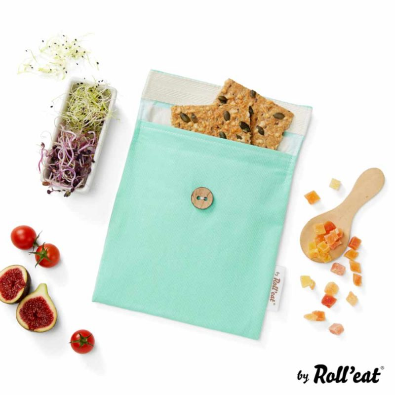 Snackbag Snack-and-Go Bio in Grün - Lookbook