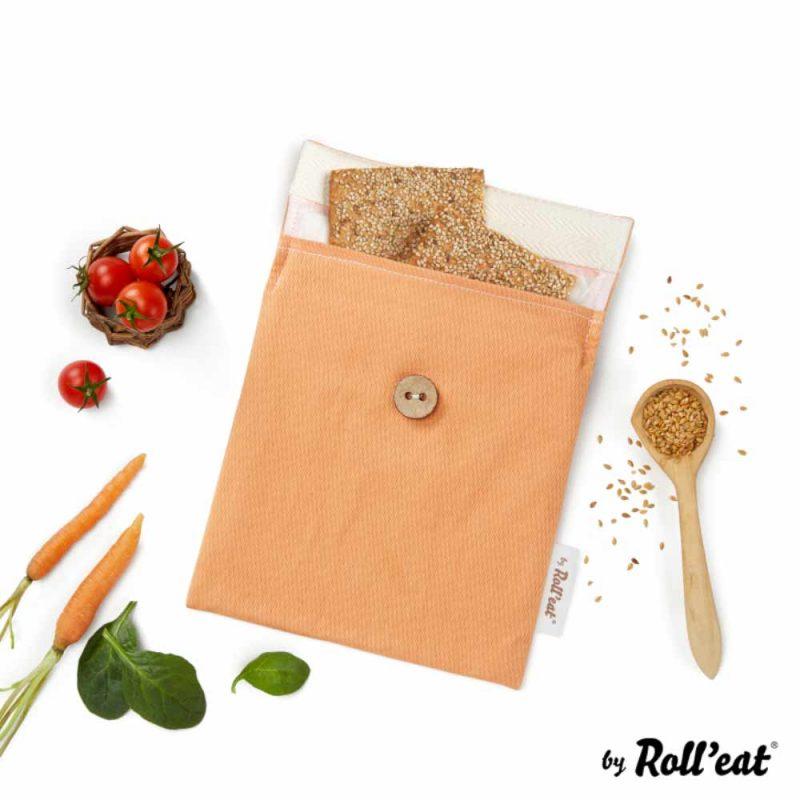 Snackbag Snack-and-Go Bio in Orange - Lookbook