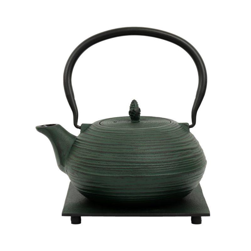 Teekanne aus Gusseisen 'Mo Yo' in Grün, 1200ml