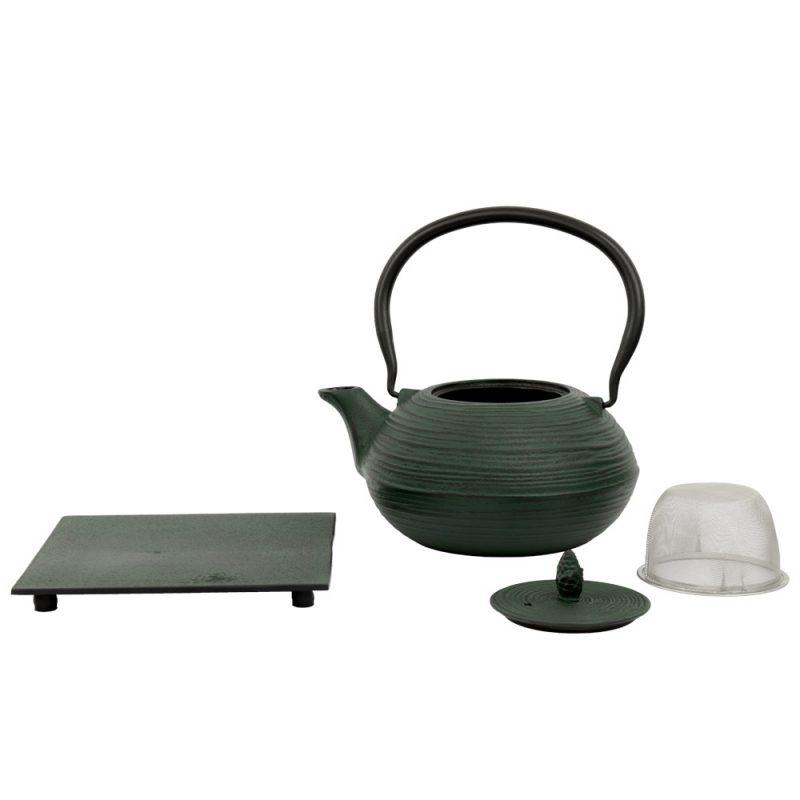 Teekanne aus Gusseisen 'Mo Yo' in Grün, 1200ml - Lieferumfang