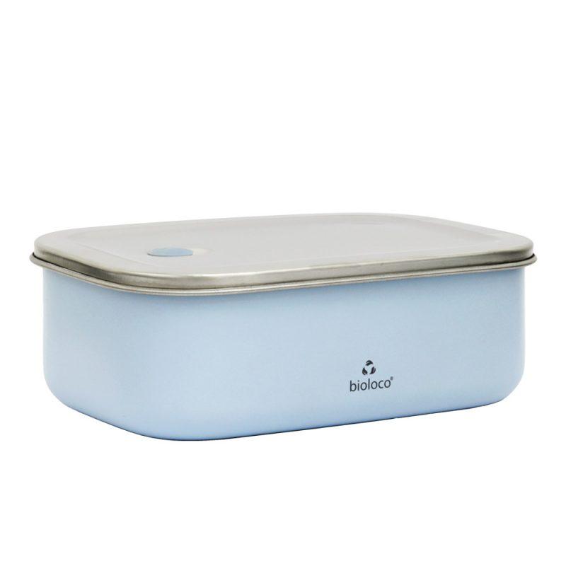 Lunchbox aus Edelstahl, Bioloco sky, Hellblau