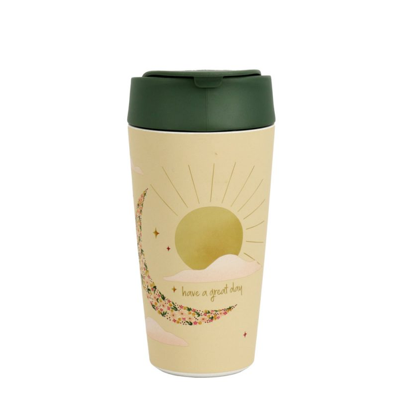 Kaffeebecher TO GO: Bioloco Plant - Deluxe Cup 'Have a great day', 420ml