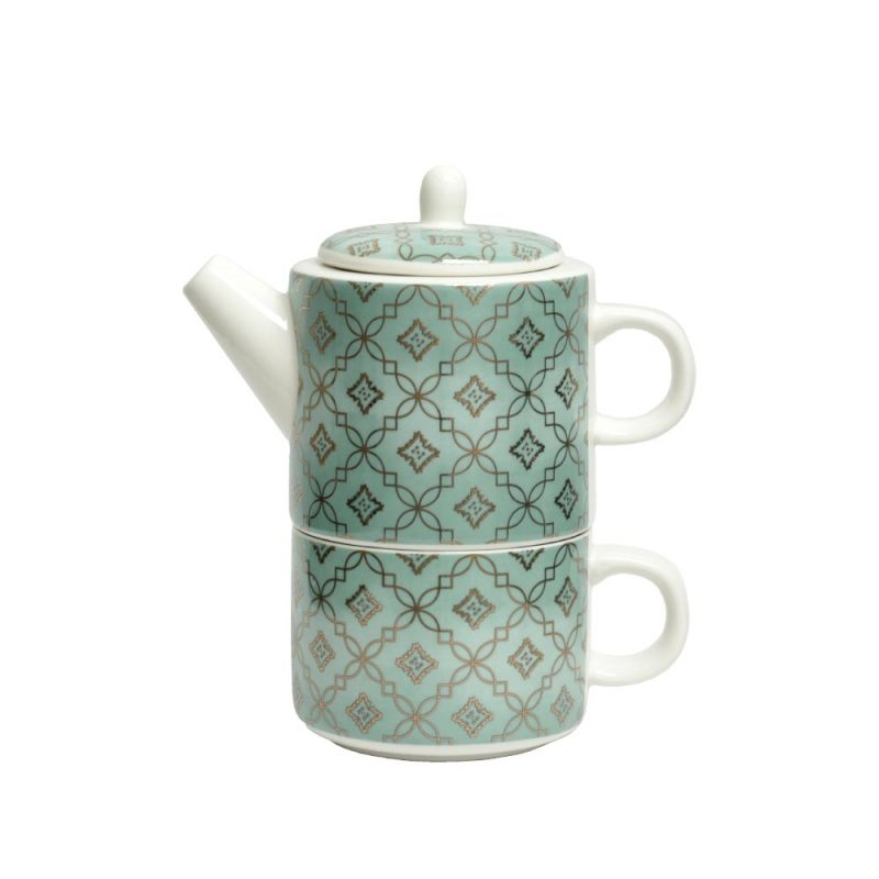 Tea for One 'Adam', Teekanne aus Porzellan im Set, 350ml