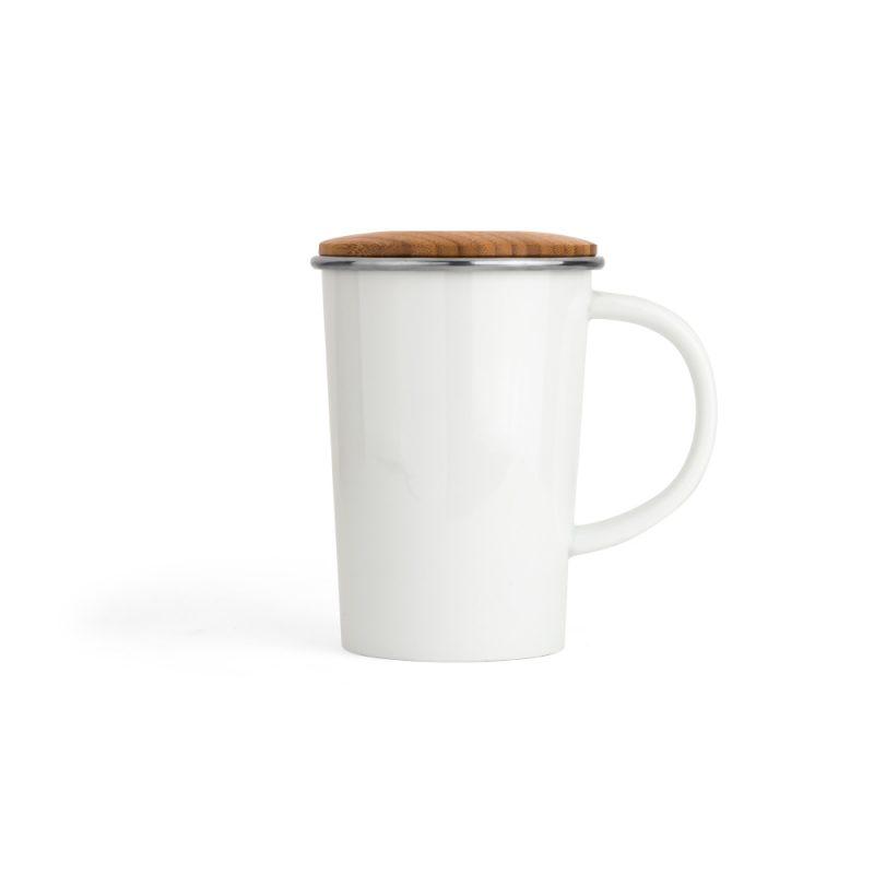 Teetasse mit Sieb, 400ml   Universal in Weiß