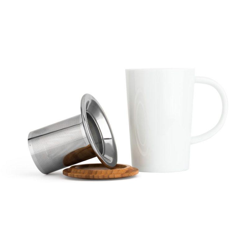 Teetasse mit Sieb, 400ml   Universal in Weiß - Lieferumfang